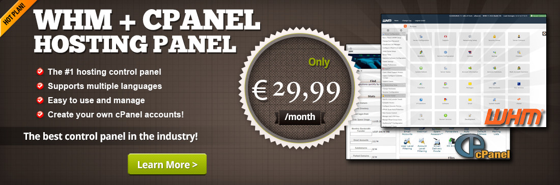 Web hosting panel with cPanel is the most popular control panel